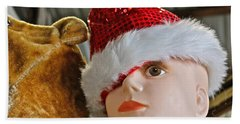 Hand Towel featuring the photograph Manniquin Santa 2 by Bill Owen