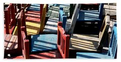 Bath Towel featuring the photograph Many Seats For Learning by EricaMaxine  Price
