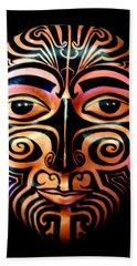 Maori Mask Hand Towel
