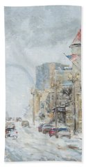 Market Street In Winter In St.louis Bath Towel
