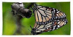 Mating Monarchs Bath Towel