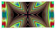 Hand Towel featuring the digital art Medievil Cross by Mario Carini