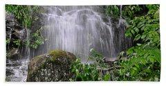 Mendenhall Glacier Flooding Waterfall Juneau Alaska 1542 Hand Towel