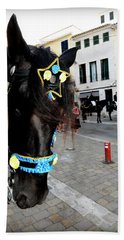 Hand Towel featuring the photograph Menorca Horse 1 by Pedro Cardona