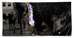 Hand Towel featuring the photograph Menorca Horse 2 by Pedro Cardona