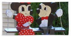 Mickey And Minnie Mouse Hand Towel