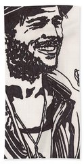 Bath Towel featuring the drawing Mickey by Jeremiah Colley