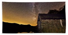 Milky Way Above The Old Boathouse Bath Towel