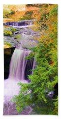 Mill Creek Waterfall Bath Towel by Michelle Joseph-Long