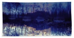 Mirror Pond In The Berkshires Hand Towel by Tom Wurl