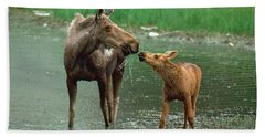 Mommy And Me Hand Towel by Doug Herr