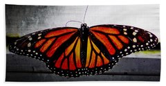 Hand Towel featuring the photograph Monarch by Julia Wilcox