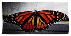 Monarch Bath Towel by Julia Wilcox