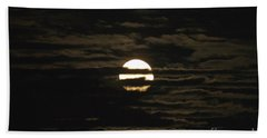 Hand Towel featuring the photograph Moon Behind The Clouds by William Norton