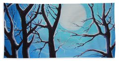Hand Towel featuring the painting Moon Light by Dan Whittemore