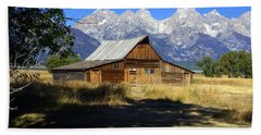Hand Towel featuring the photograph Mormon Row Barn by Marty Koch