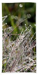 Hand Towel featuring the photograph Morning Dew by Lauren Radke