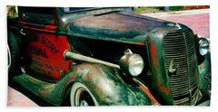 Bath Towel featuring the photograph Morning Glory Coal Truck by Nina Prommer