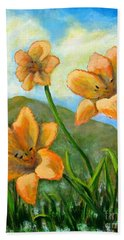 Morning Glow Hand Towel by Laurie Morgan