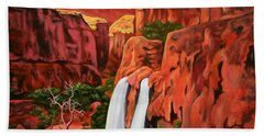 Morning In The Canyon Hand Towel
