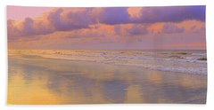Hand Towel featuring the photograph Morning On The Beach  by Lydia Holly
