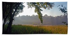 Morning On The River Bath Towel by Kay Lovingood