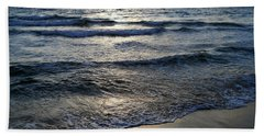 Hand Towel featuring the photograph Morning Surf by Clara Sue Beym