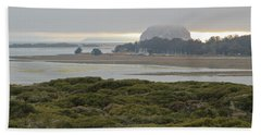 Morro Rock From The Elfin Forest Hand Towel