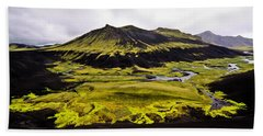 Moss In Iceland Hand Towel