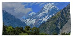 Hand Towel featuring the photograph Mount Cook by David Gleeson