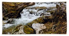 Hand Towel featuring the photograph Mountain Stream by Les Palenik