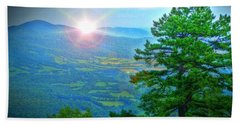 Mountain Sunrise Bath Towel by Dan Stone