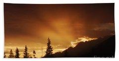 Mountain Sunset Hand Towel