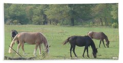 Bath Towel featuring the photograph Mowing The Lawn by Bonfire Photography