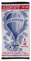 Bath Towel featuring the photograph Mrs Graham The Balloonist by Andy Prendy