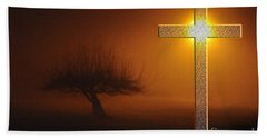 My Life In God's Hands Bath Towel by Clayton Bruster