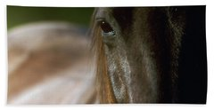 Hand Towel featuring the photograph My Neigh-bor's Horse by Doug Herr
