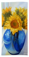 My Sunflowers Bath Towel by Marlene Book