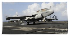 N Ea-6b Prowler Makes An Arrested Hand Towel