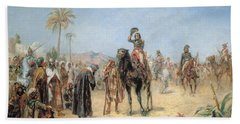 Napoleon Arriving At An Egyptian Oasis Hand Towel