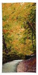 Bath Towel featuring the photograph Nature In Oil  by Deniece Platt