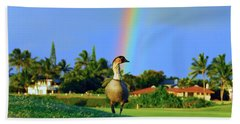 Bath Towel featuring the photograph Nene At The End Of The Rainbow by Lynn Bauer