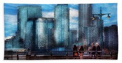 New York - City - Hudson River Park - Downtown Hand Towel