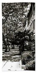 Bath Towel featuring the photograph New York Sidewalk by Eric Tressler