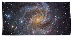 Ngc 6946, A Spiral Galaxy In Cepheus Hand Towel