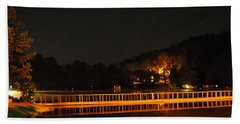 Night Bridge Bath Towel by Kay Lovingood