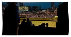 Night Game At Wrigley Field Hand Towel