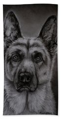 Noble - German Shepherd Dog  Bath Towel