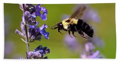 Non Stop Flight To Pollination Bath Towel