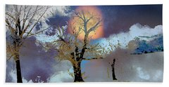 Bath Towel featuring the photograph November Moon by Lenore Senior
